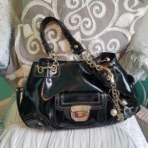Kathy Van Zeeland Shiny Black Handbag